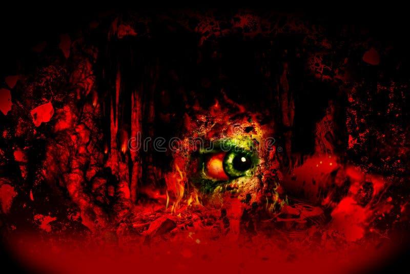 σκοτεινός φόβος διανυσματική απεικόνιση
