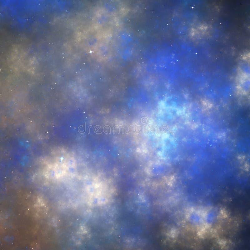 Σκοτεινός fractal νυχτερινός ουρανός με τα αστέρια ελεύθερη απεικόνιση δικαιώματος