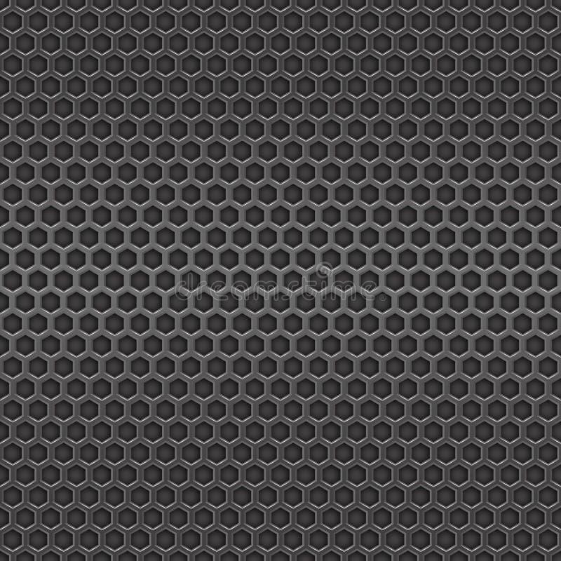 Σκοτεινό άνευ ραφής υπόβαθρο κυττάρων μετάλλων διανυσματική απεικόνιση