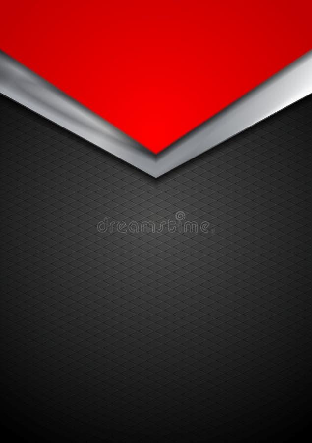 Σκοτεινό ασημένιο και κόκκινο σχέδιο βελών τεχνολογίας διανυσματική απεικόνιση