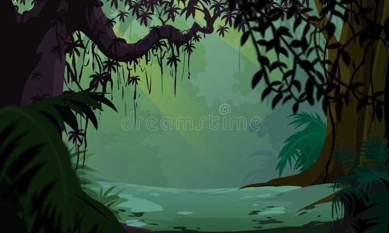 σκοτεινό δάσος ελεύθερη απεικόνιση δικαιώματος