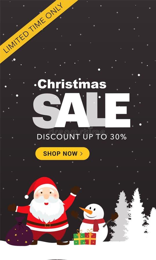 Σκοτεινό κάθετο έμβλημα πώλησης Χριστουγέννων στοκ εικόνα με δικαίωμα ελεύθερης χρήσης