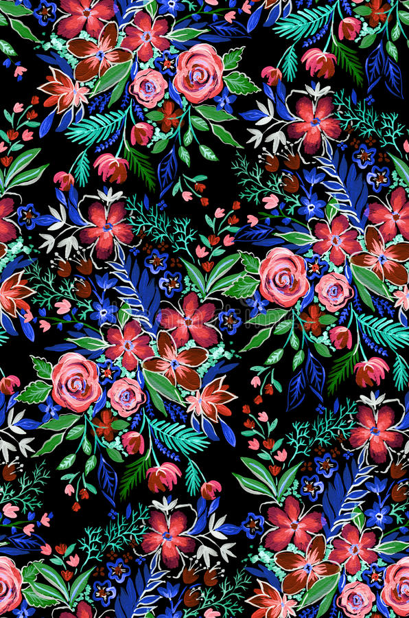 Σκοτεινό και δραματικό άγριο σχέδιο λουλουδιών στοκ φωτογραφίες