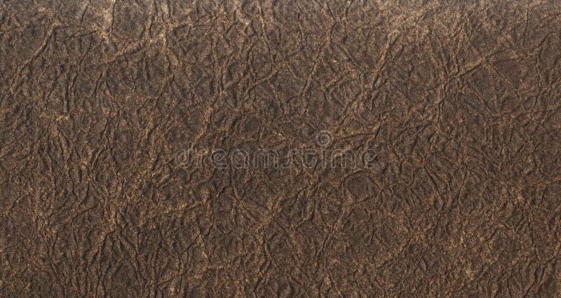 Σκοτεινό καφετί υπόβαθρο σύστασης δέρματος Κλείστε επάνω μιας αρχαίας σύστασης δέρματος καφετί σχέδιο υποβάθρου σύστασης δέρματος στοκ εικόνες