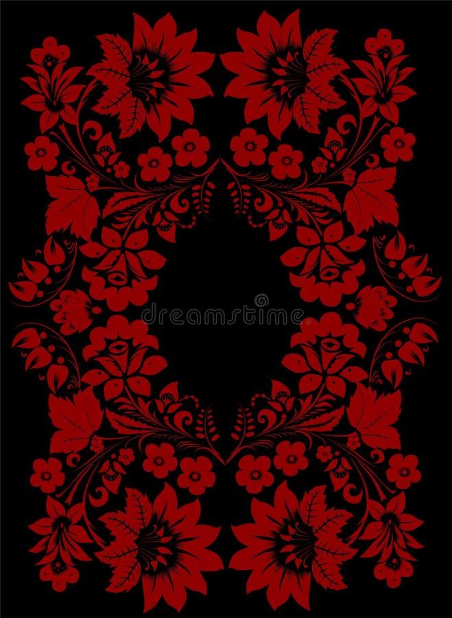 σκοτεινό κόκκινο πλαισί&omega απεικόνιση αποθεμάτων