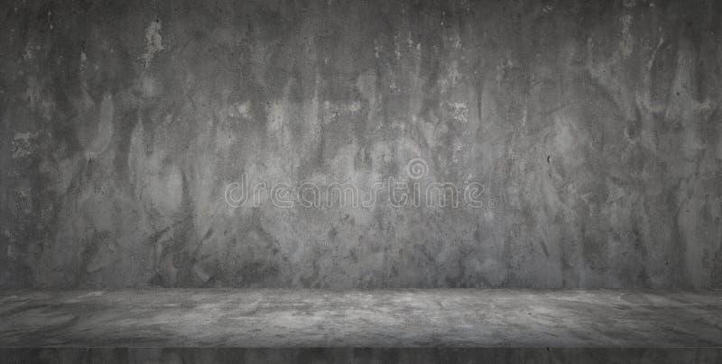 Σκοτεινό μαύρο κενό δωμάτιο συμπαγών τοίχων και πατωμάτων στοκ εικόνα με δικαίωμα ελεύθερης χρήσης