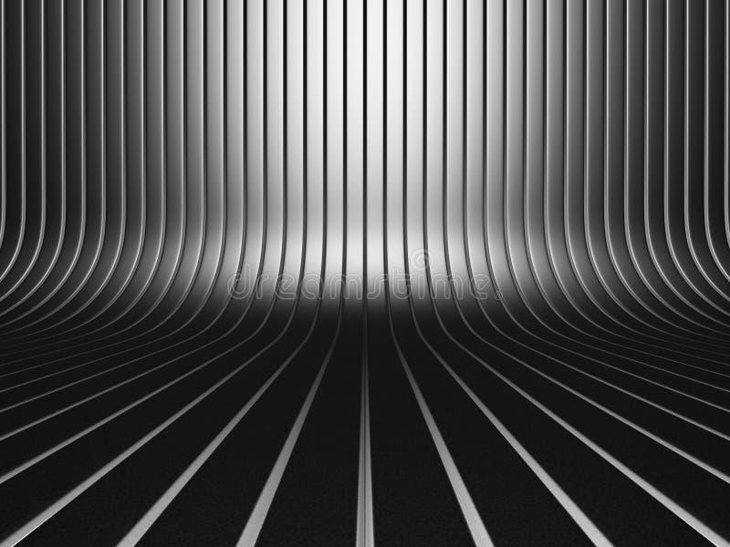 Σκοτεινό μεταλλικό βιομηχανικό υπόβαθρο σχεδίων λωρίδων διανυσματική απεικόνιση