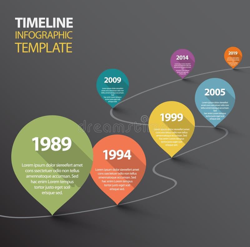 Σκοτεινό πρότυπο υπόδειξης ως προς το χρόνο Infographic με τους δείκτες ελεύθερη απεικόνιση δικαιώματος