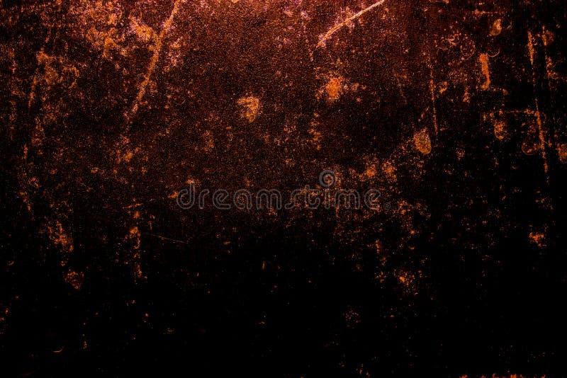 Σκοτεινό σύσταση επιφάνειας μετάλλων παλαιών τρομακτικός σκουριασμένος τραχύς χρυσό και χαλκού/υπόβαθρο για αποκριές ή συχνασμένα στοκ εικόνες