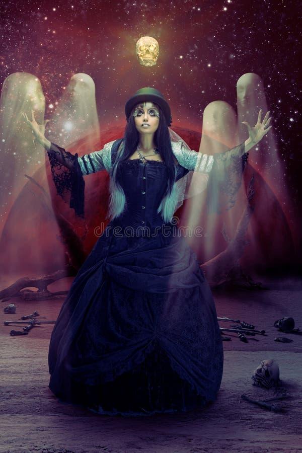Σκοτεινό τελετουργικό στοκ εικόνες με δικαίωμα ελεύθερης χρήσης