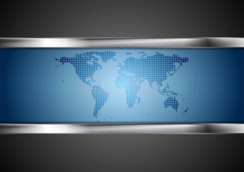 Σκοτεινό υπόβαθρο τεχνολογίας με τα στοιχεία χαρτών και χάλυβα ελεύθερη απεικόνιση δικαιώματος