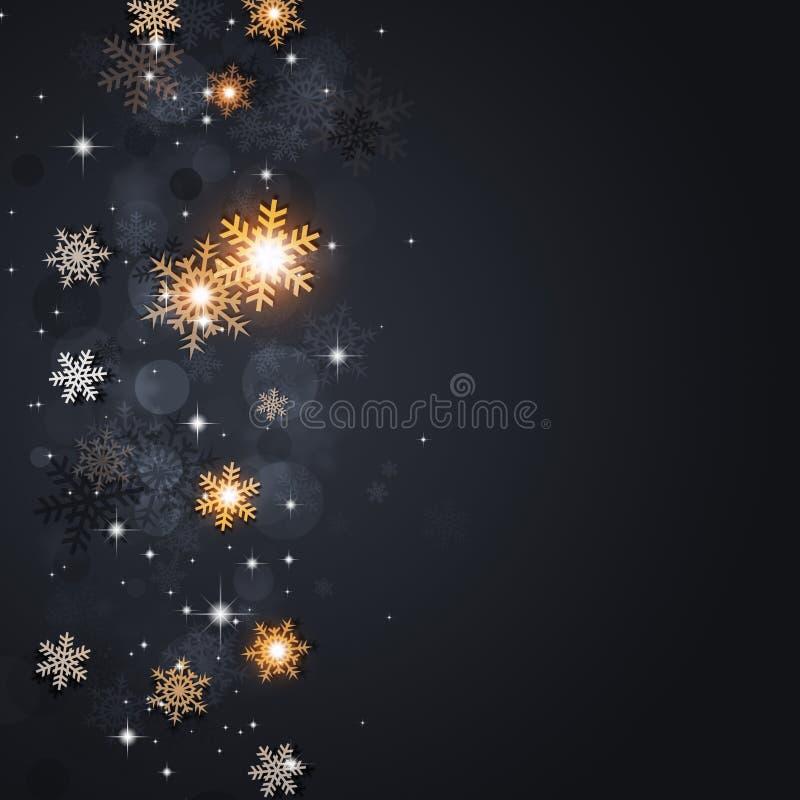 Σκοτεινό υπόβαθρο χιονιού διακοπών ελεύθερη απεικόνιση δικαιώματος