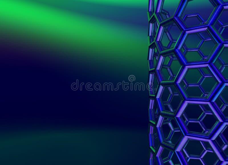 σκοτεινό nanotube άνθρακα ανασκό ελεύθερη απεικόνιση δικαιώματος