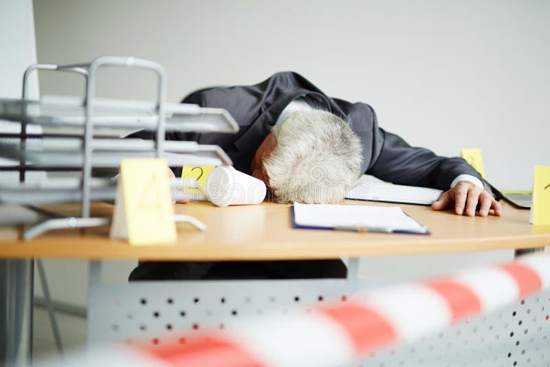 Σκοτωμένος στην εργασία στοκ εικόνα