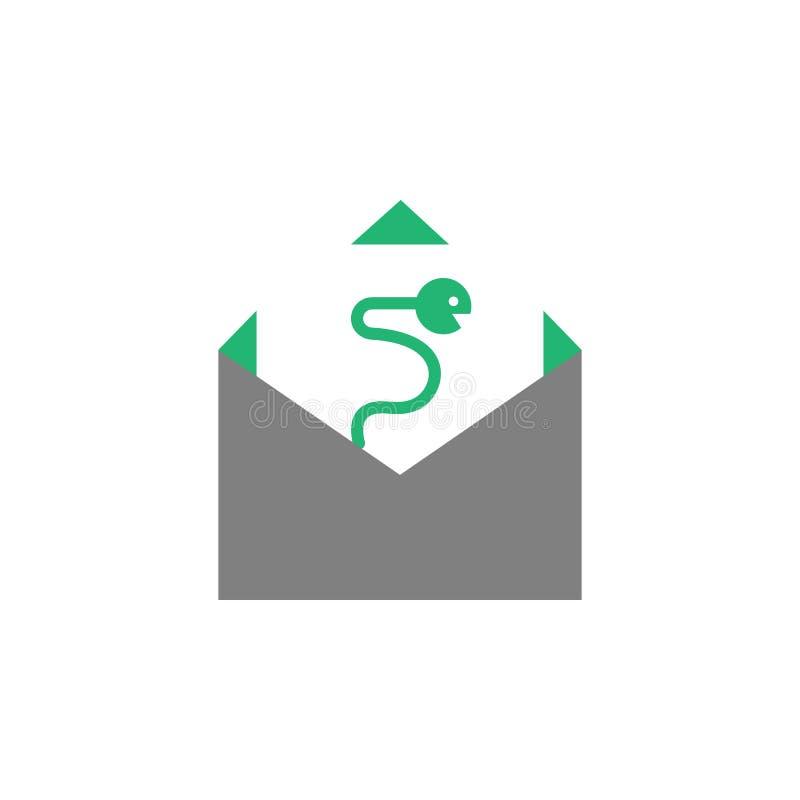 Σκουλήκι, εικονίδιο ιών Στοιχείο Cyber και του εικονιδίου ασφάλειας για την κινητούς έννοια και τον Ιστό apps Το λεπτομερές σκουλ ελεύθερη απεικόνιση δικαιώματος