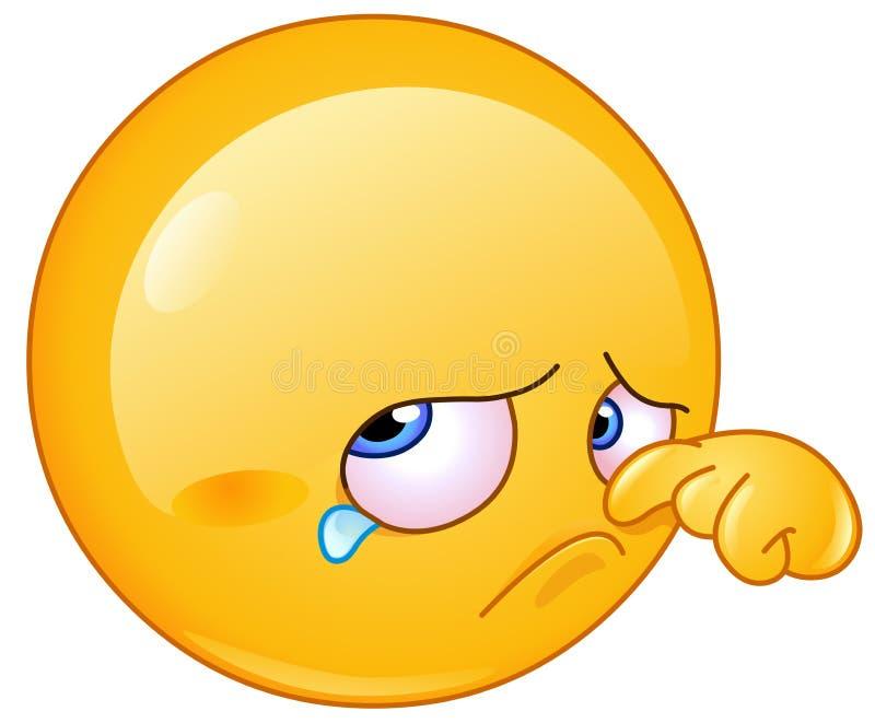 Σκουπίζοντας δάκρυ emoticon ελεύθερη απεικόνιση δικαιώματος
