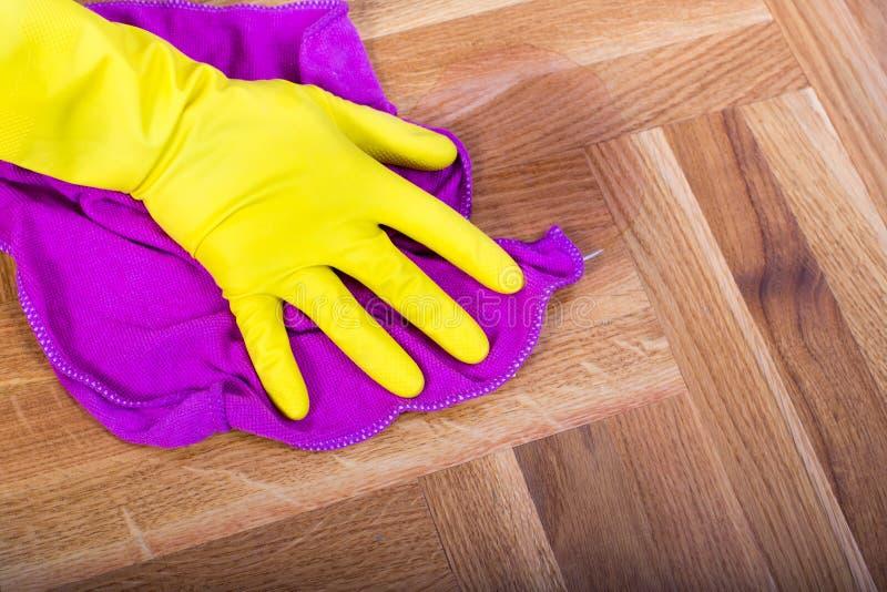 Σκουπίζοντας πάτωμα γυναικών στοκ εικόνα