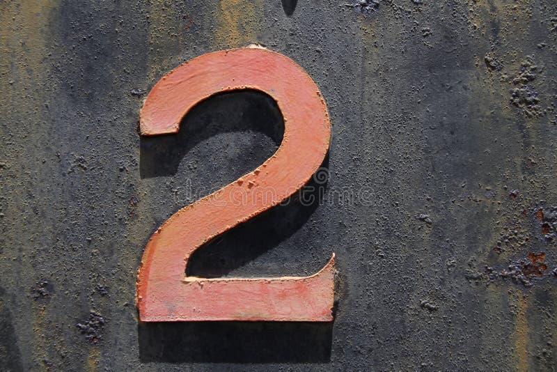 σκουριά δύο αριθμού μετάλ στοκ φωτογραφία με δικαίωμα ελεύθερης χρήσης