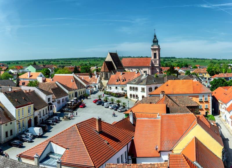 Σκουριά, Burgenland Αυστρία, κύριες τετράγωνο και εκκλησία στοκ φωτογραφία με δικαίωμα ελεύθερης χρήσης