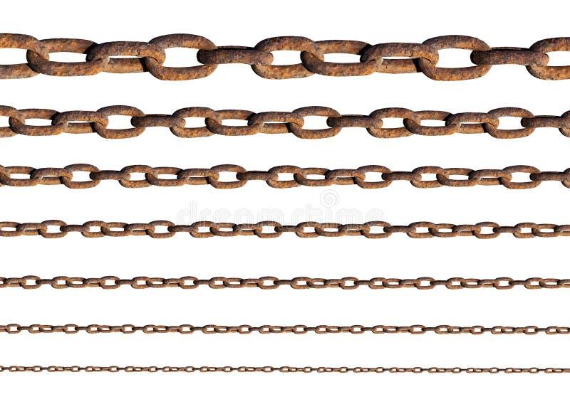 Σκουριασμένες αλυσίδες μετάλλων στοκ εικόνες με δικαίωμα ελεύθερης χρήσης