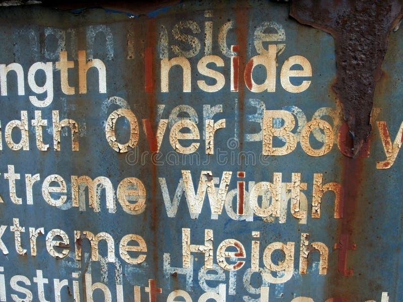 σκουριασμένες λέξεις Στοκ φωτογραφία με δικαίωμα ελεύθερης χρήσης