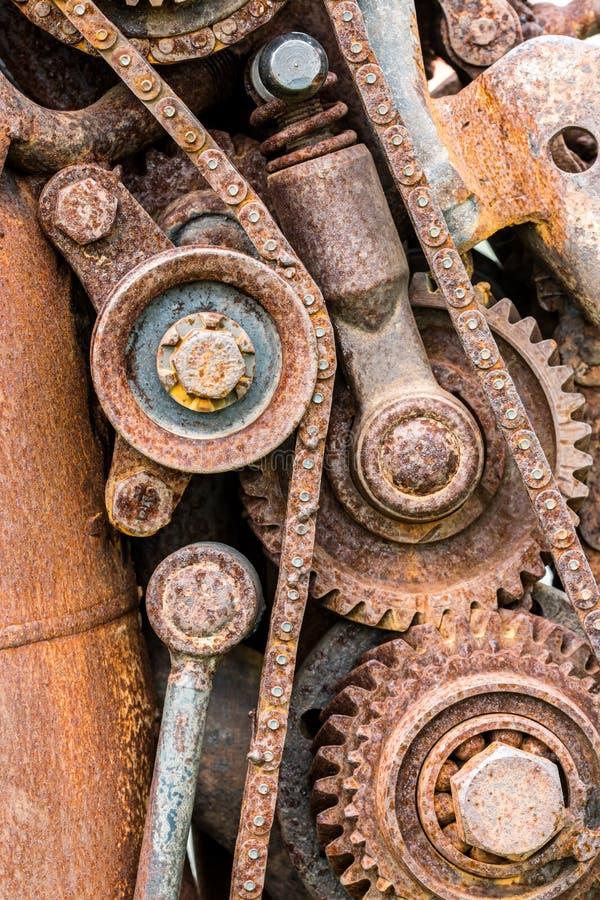 Σκουριασμένες ρόδες εργαλείων Grunge και άλλα συστατικά βιομηχανικός mach στοκ φωτογραφία με δικαίωμα ελεύθερης χρήσης