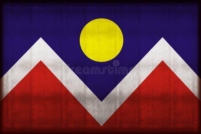Σκουριασμένη απεικόνιση σημαιών του Ντένβερ Κολοράντο απεικόνιση αποθεμάτων