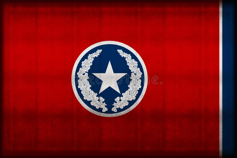 Σκουριασμένη απεικόνιση σημαιών του Σατανούγκα απεικόνιση αποθεμάτων