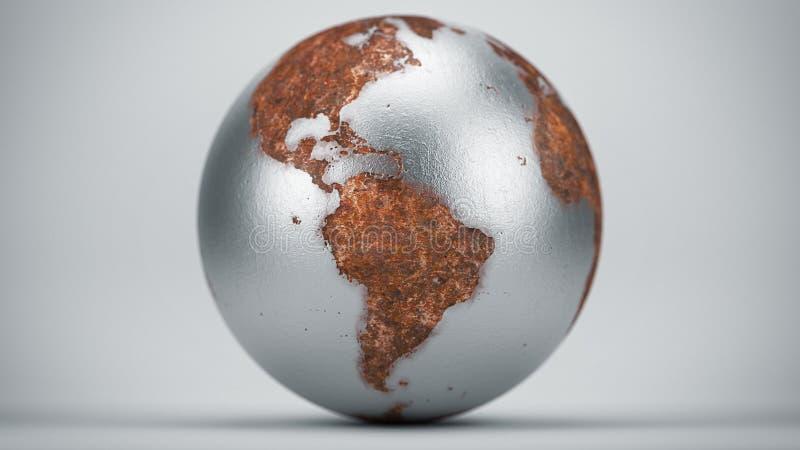 Σκουριασμένη γη Νότια Αμερική στοκ εικόνα