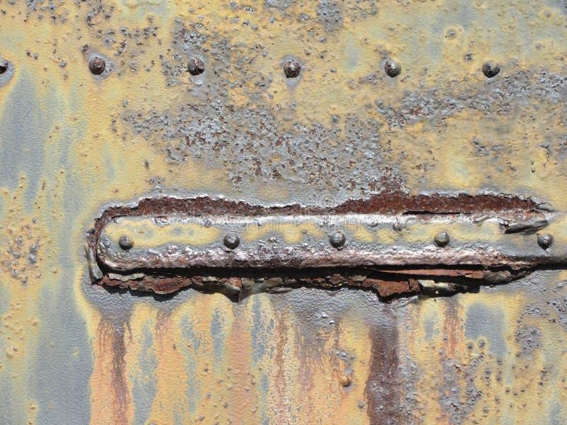 Σκουριασμένη παλαιά σύσταση λεπτομέρειας αρθρώσεων πορτών μετάλλων στοκ εικόνες