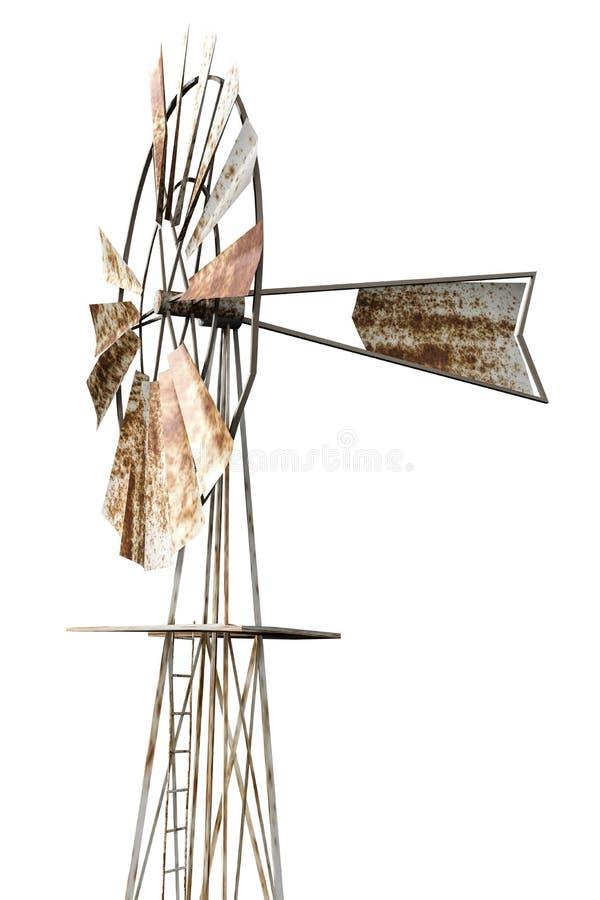 Σκουριασμένος ανεμόμυλος διανυσματική απεικόνιση