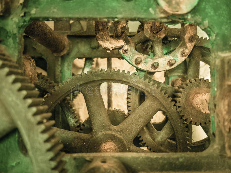 Σκουριασμένος παλαιός μηχανισμός στοκ εικόνες με δικαίωμα ελεύθερης χρήσης