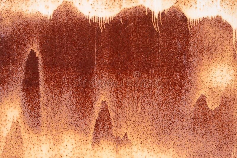 σκουριασμένος τοίχος μετάλλων στοκ εικόνες
