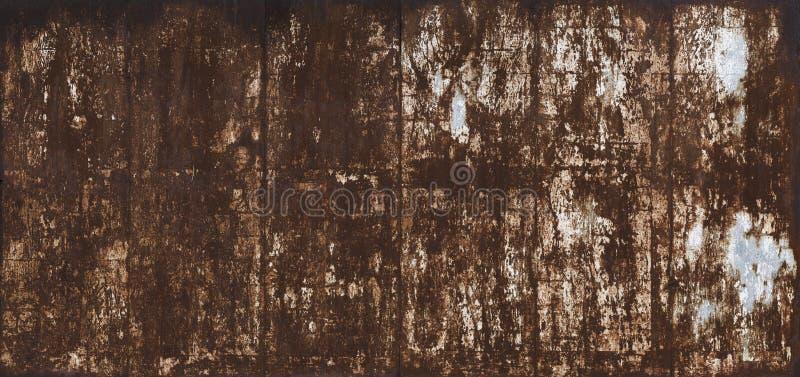 Σκουριασμένο βρώμικο μεταλλικό κατασκευασμένο υπόβαθρο επιφάνειας στοκ εικόνες