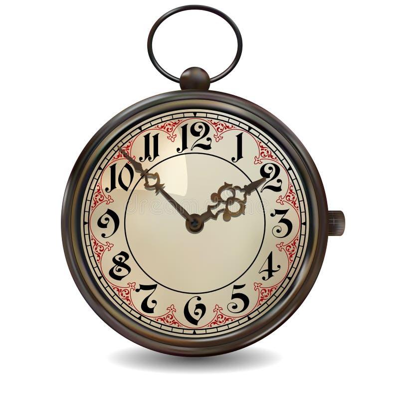 Σκουριασμένο ρολόι τσεπών διανυσματική απεικόνιση