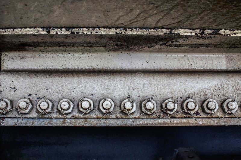 Σκουριασμένο υπόβαθρο μερών μεταφορών σιδηροδρόμων στοκ φωτογραφία με δικαίωμα ελεύθερης χρήσης