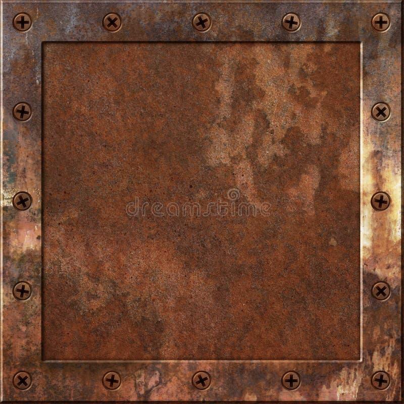 Σκουριασμένο υπόβαθρο μετάλλων διανυσματική απεικόνιση