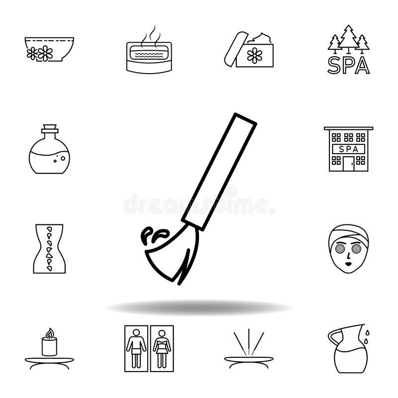 σκούπα, SPA, εικονίδιο περιλήψεων καθαρότητας Το λεπτομερές σύνολο της SPA και χαλαρώνει το εικονίδιο απεικονίσεων Μπορέστε να χρ ελεύθερη απεικόνιση δικαιώματος