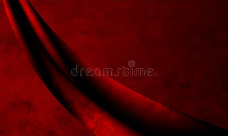Σκούρο κόκκινο παλαιά ταπετσαρία υποβάθρου σύστασης Grunge αφηρημένη ελεύθερη απεικόνιση δικαιώματος