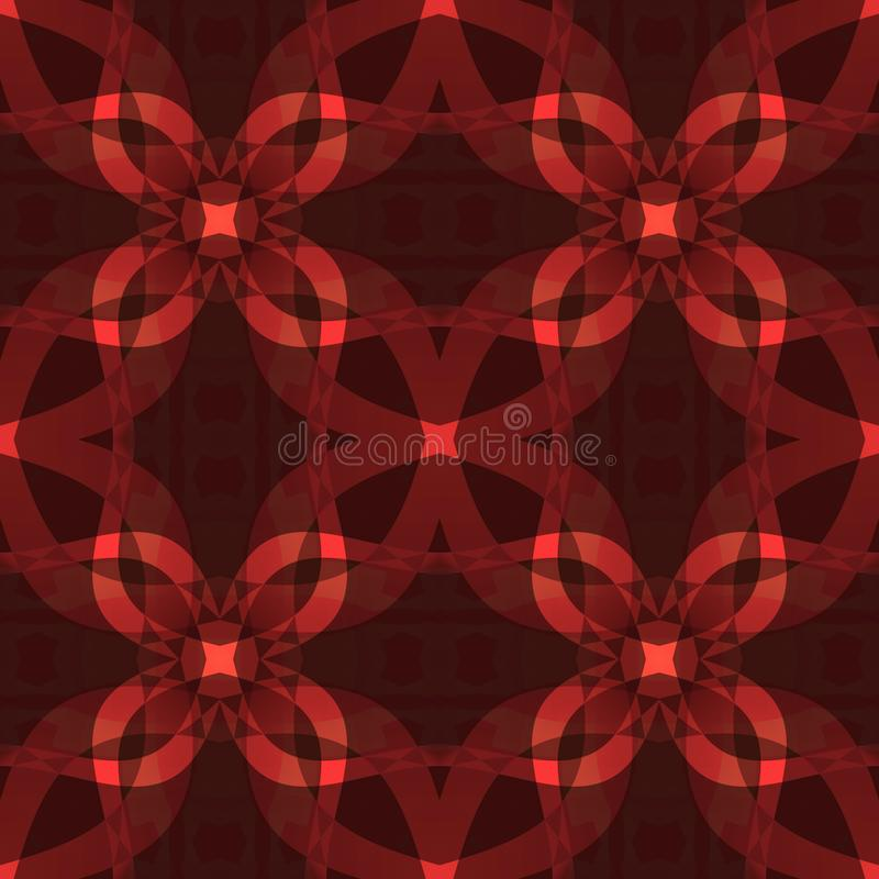 Σκούρο κόκκινο σύγχρονη αφηρημένη σύσταση Λεπτομερής απεικόνιση υποβάθρου Άνευ ραφής κεραμίδι Υφαντικό σχέδιο τυπωμένων υλών Σχέδ διανυσματική απεικόνιση