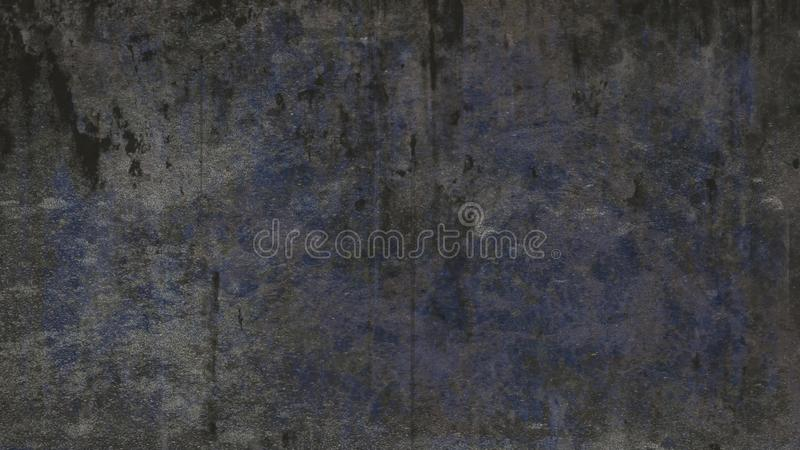 Σκούρο μπλε γκρίζο βρώμικο χαλικώδες υπόβαθρο σύστασης grunge στοκ φωτογραφία
