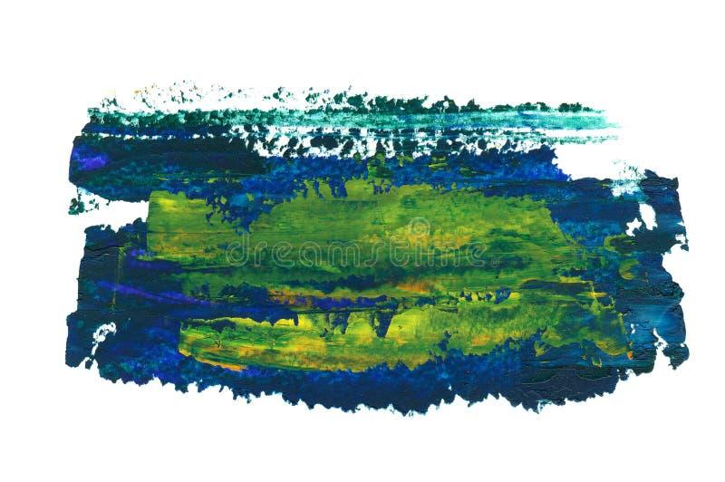 Σκούρο μπλε, πράσινα και κίτρινα κτυπήματα πετρελαίου ελεύθερη απεικόνιση δικαιώματος