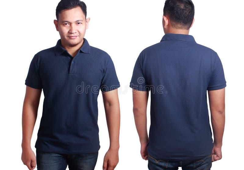Σκούρο μπλε πρότυπο προτύπων πουκάμισων πόλο στοκ εικόνες