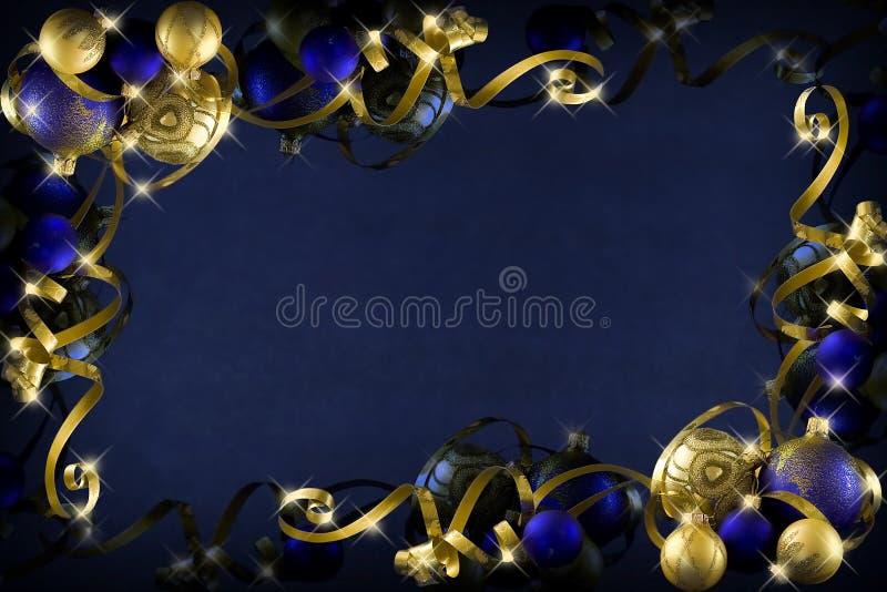 Σκούρο μπλε Χριστούγεννα στοκ εικόνες