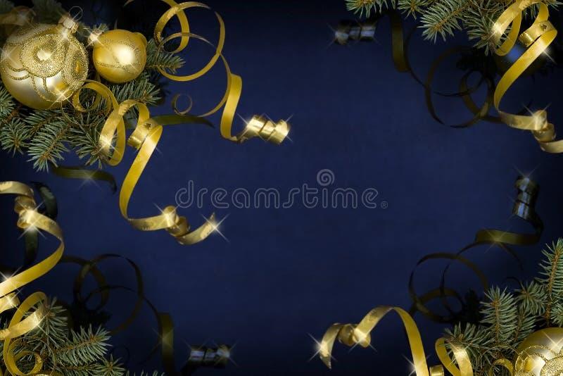 Σκούρο μπλε Χριστούγεννα στοκ εικόνες με δικαίωμα ελεύθερης χρήσης