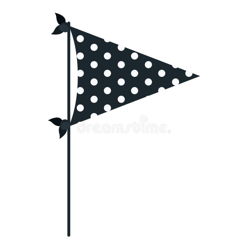 Σκούρο μπλε χρώματος κόμμα σημαιών σκιαγραφιών διακοσμητικό με διάφορα σημεία μέσα για τον εορτασμό διανυσματική απεικόνιση