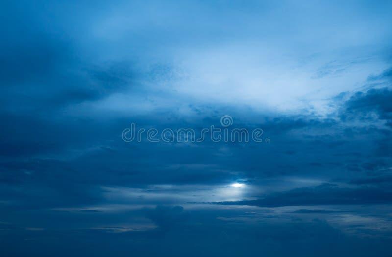 Σκούρο μπλε ουρανός και σύννεφο στοκ εικόνα με δικαίωμα ελεύθερης χρήσης