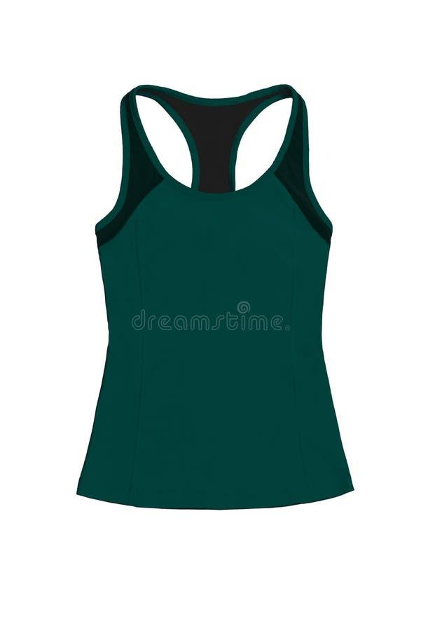 Σκούρο πράσινο αθλητική κορυφή κιρκιριών, που απομονώνεται στο άσπρο υπόβαθρο στοκ φωτογραφία με δικαίωμα ελεύθερης χρήσης