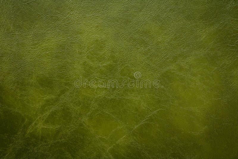 Σκούρο πράσινο υπόβαθρο σύστασης δέρματος Τεχνητό υλικό δερμάτων στοκ εικόνες