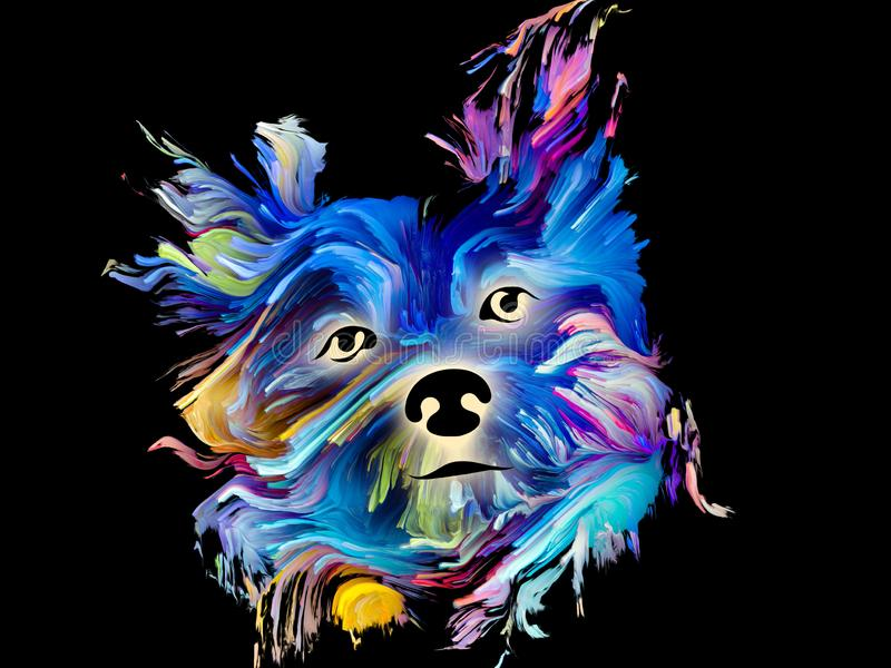 Σκυλί διανυσματική απεικόνιση